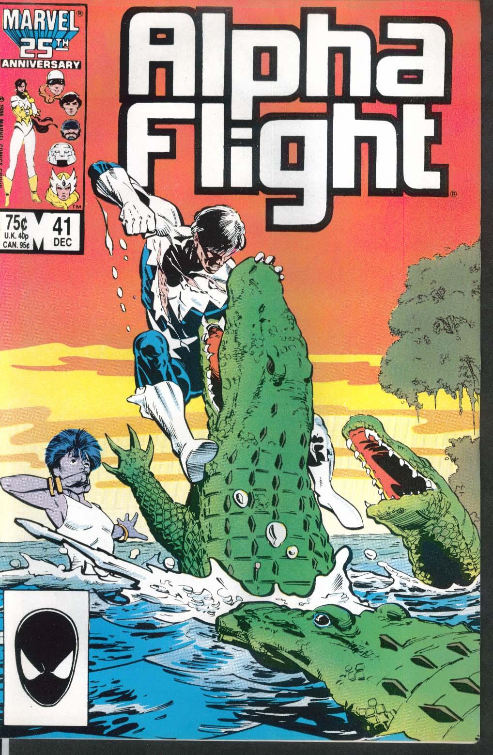 ALPHA FLIGHT #41 Marvel comic book 12 1986