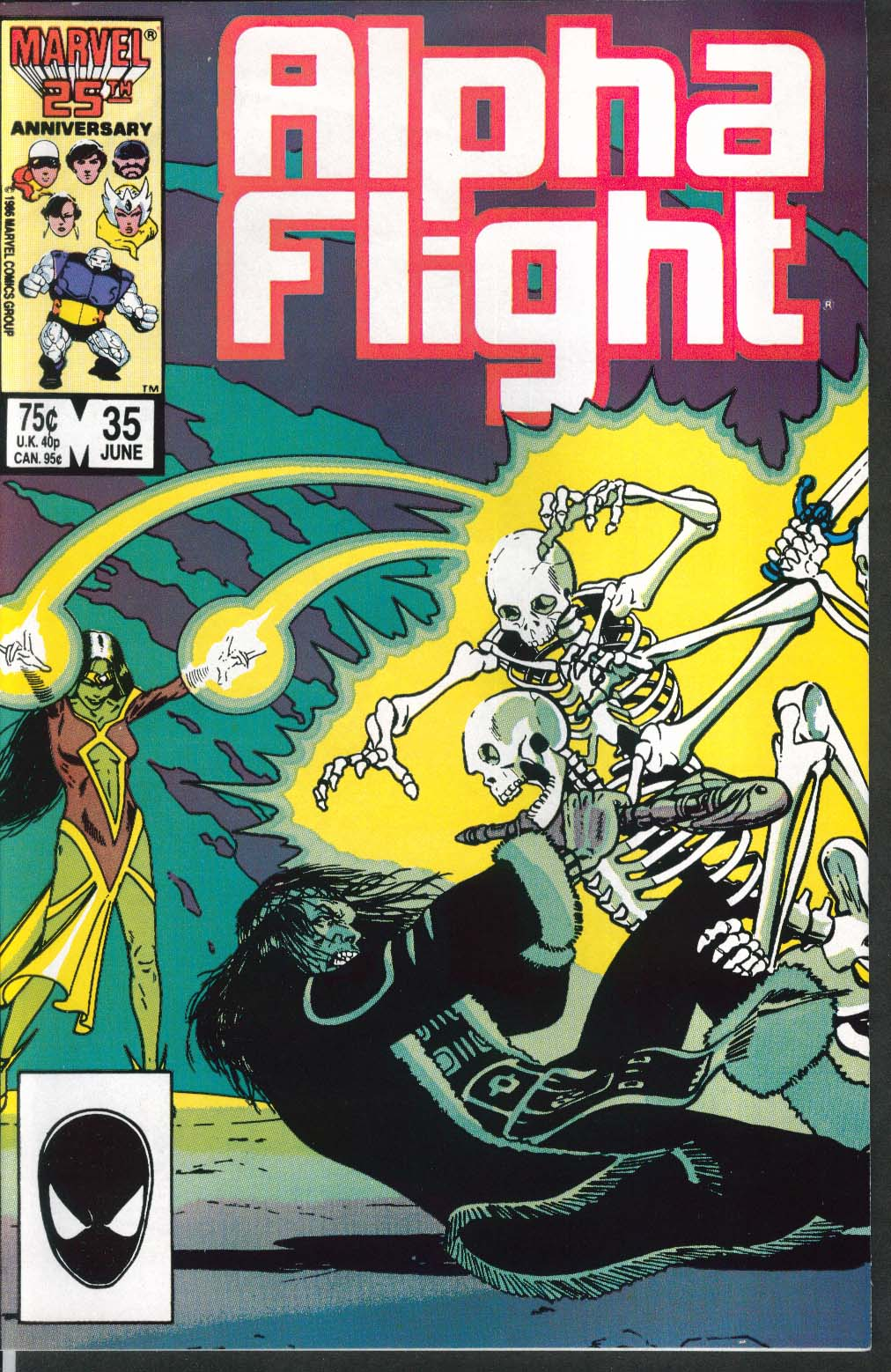 ALPHA FLIGHT #35 Marvel comic book 6 1986