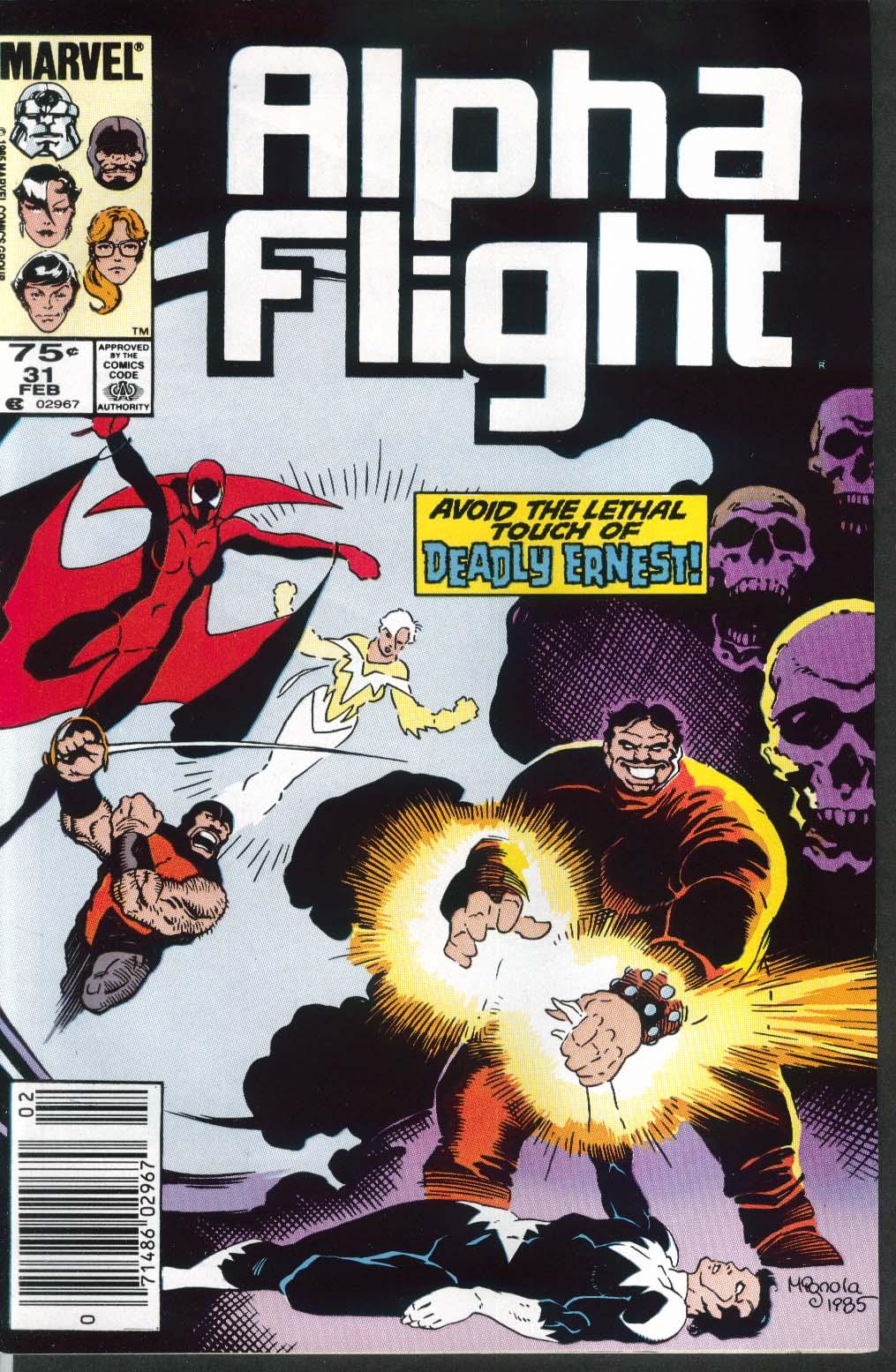 ALPHA FLIGHT #31 Marvel comic book 2 1986