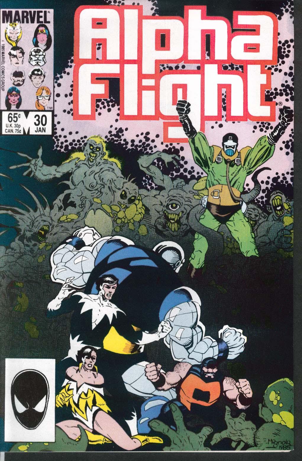 ALPHA FLIGHT #30 Marvel comic book 1 1986