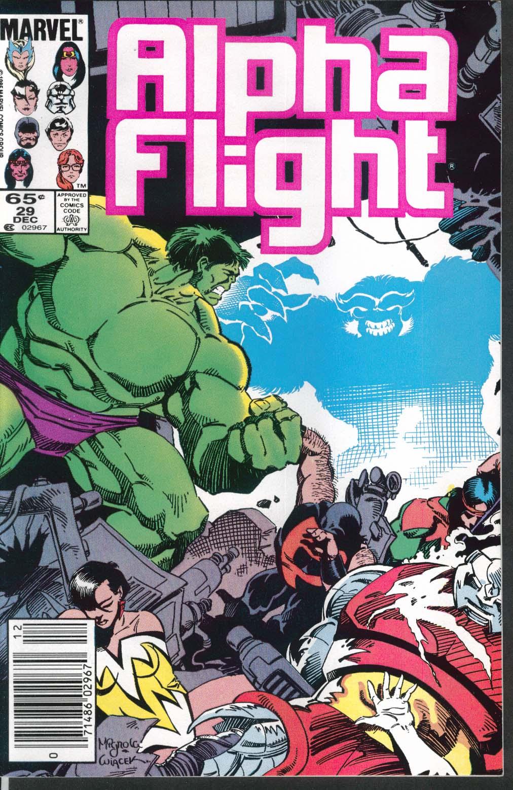 Image for ALPHA FLIGHT #29 Marvel comic book 12 1985