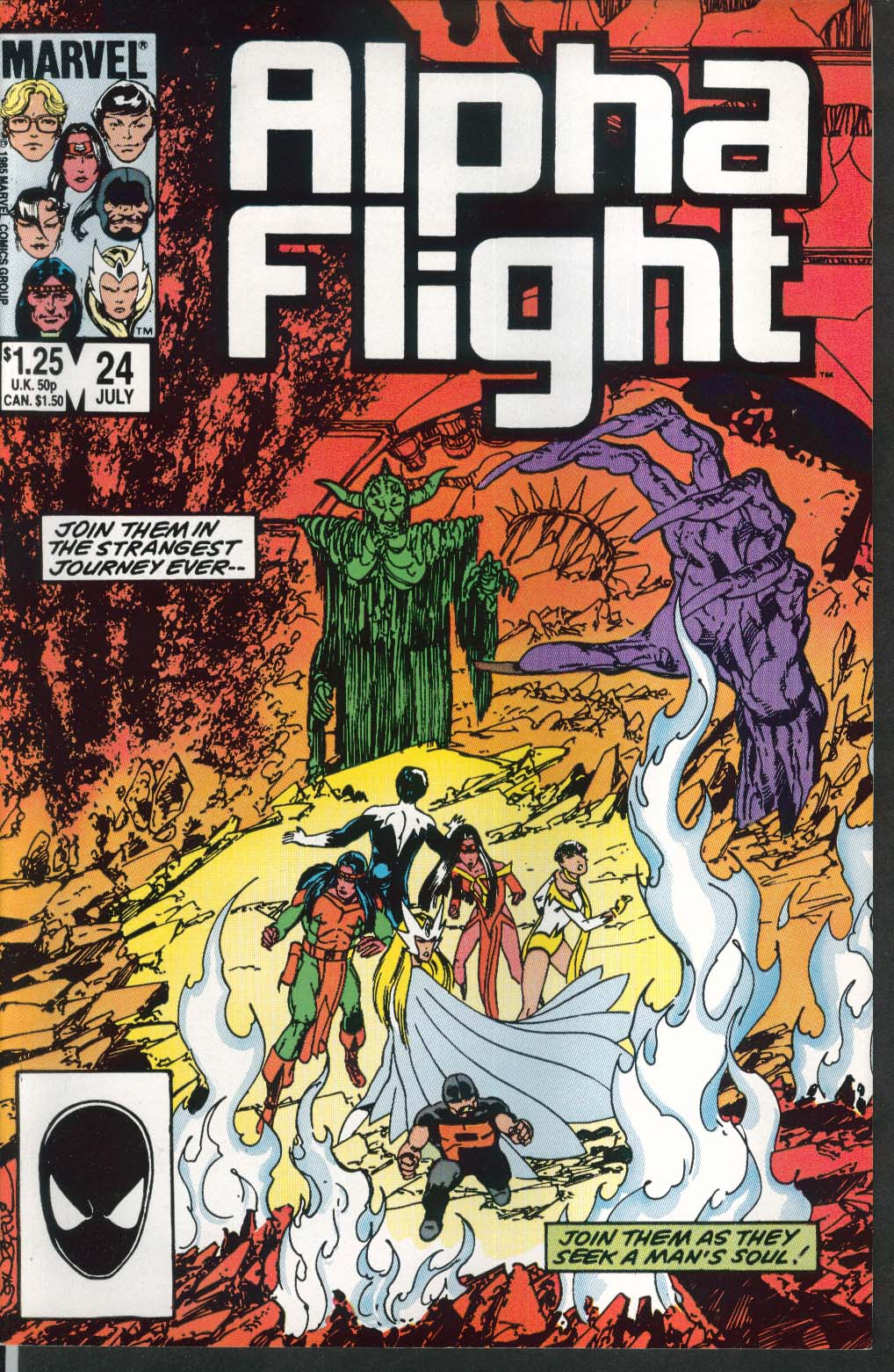 ALPHA FLIGHT #24 Marvel comic book 7 1985