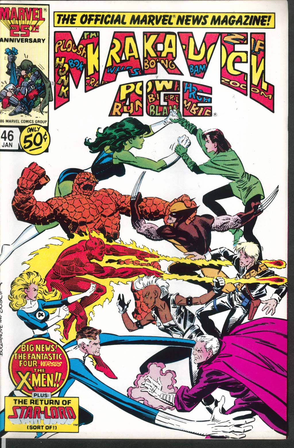 MARVEL AGE #46 comic book 1 1987 Fantastic Four X-Men