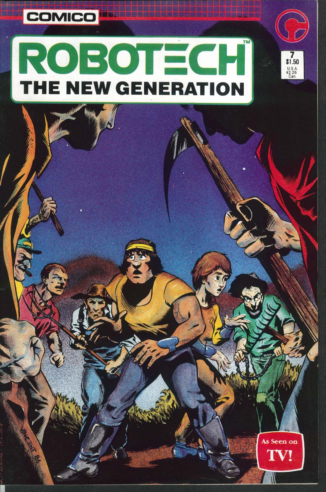 ROBOTECH New Generation #7 Comico comic book 4 1986