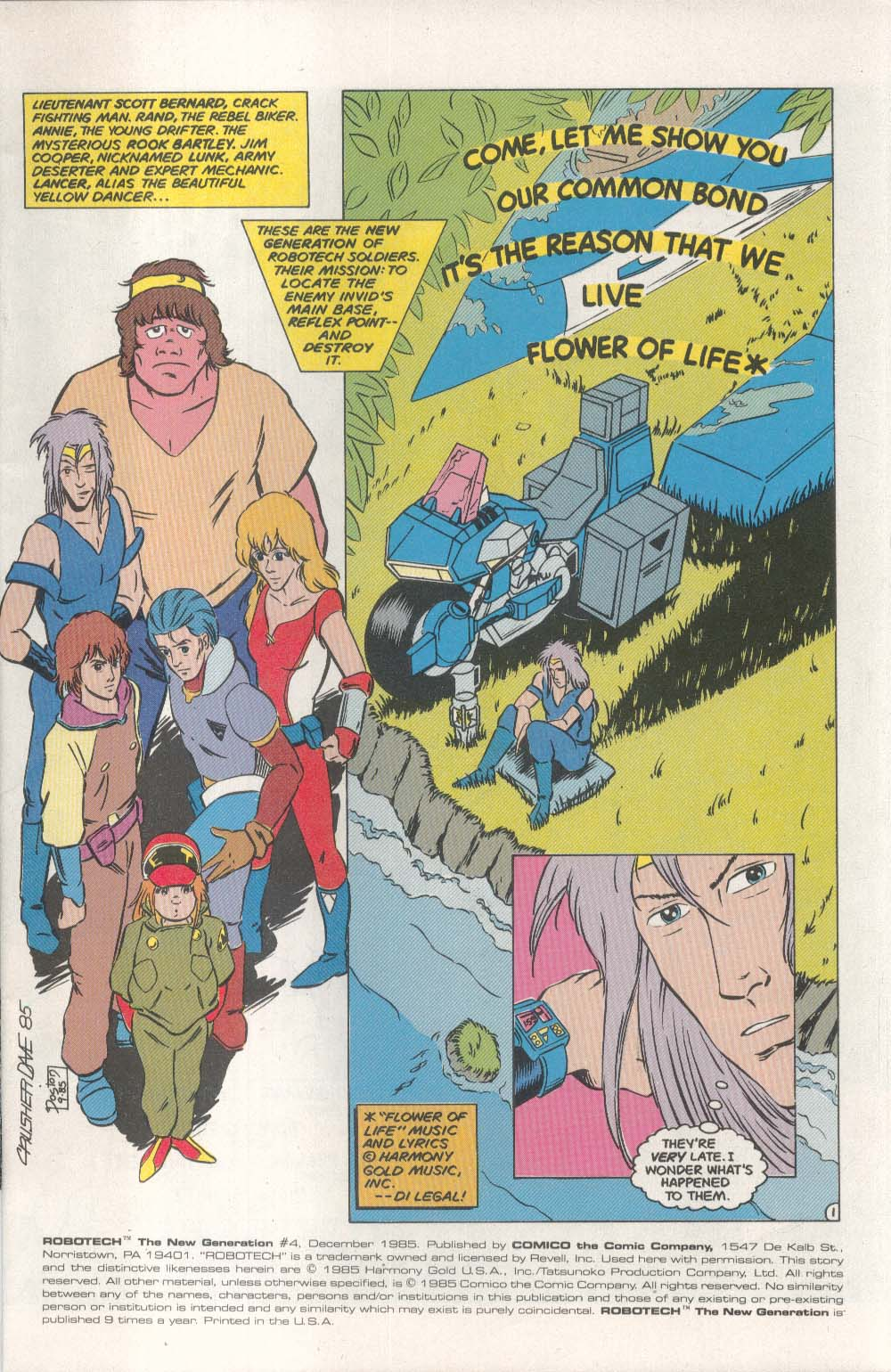 ROBOTECH New Generation #4 Comico comic book 12 1985