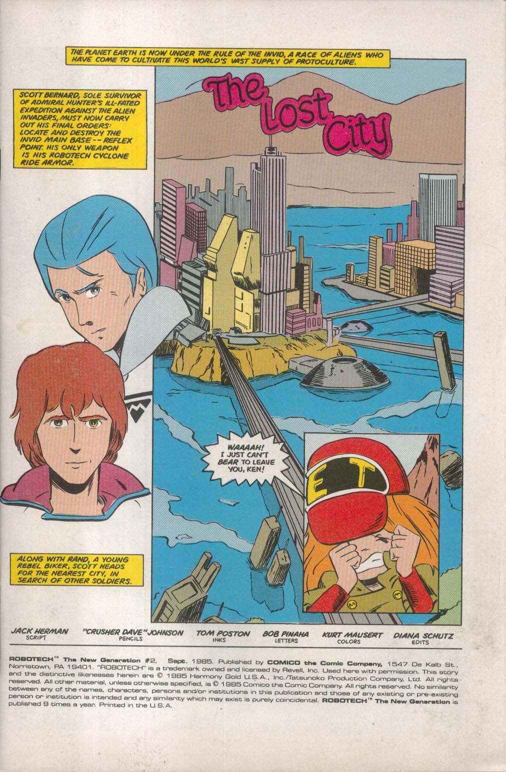 ROBOTECH New Generation #2 Comico comic book 9 1985