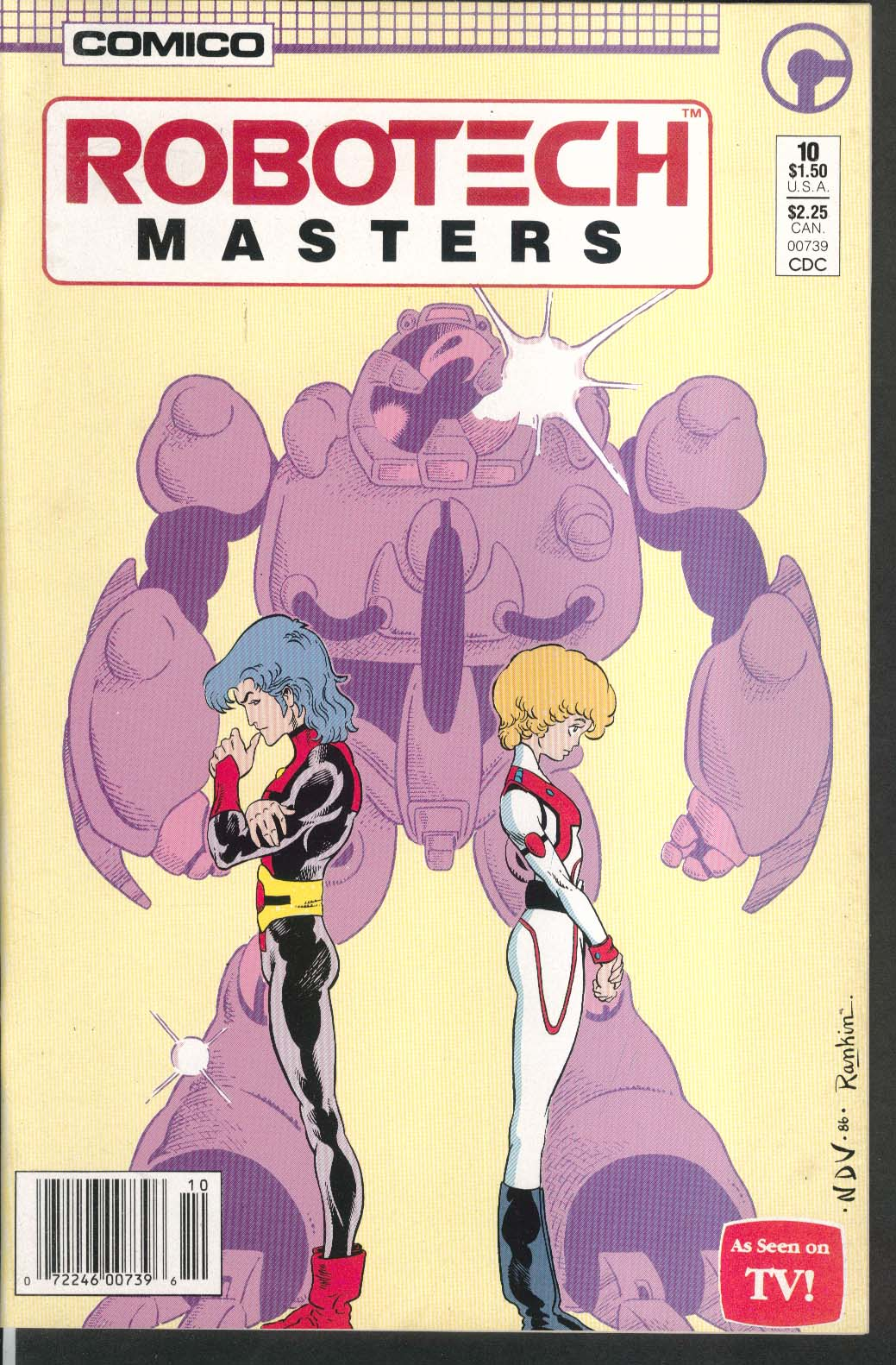 ROBOTECH Masters #10 Comico comic book 8 1986