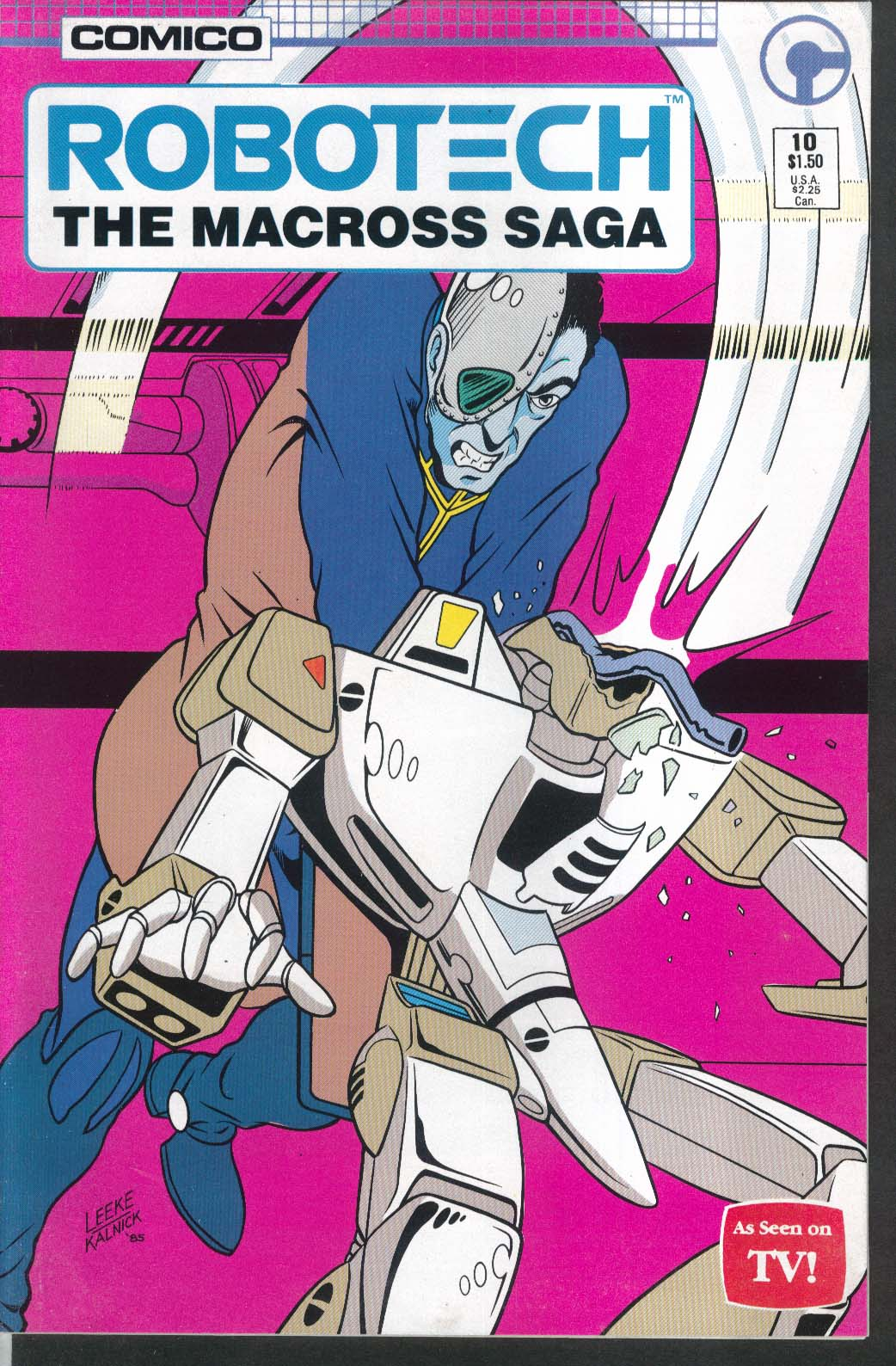ROBOTECH Macross Saga #10 Comico comic book 3 1986