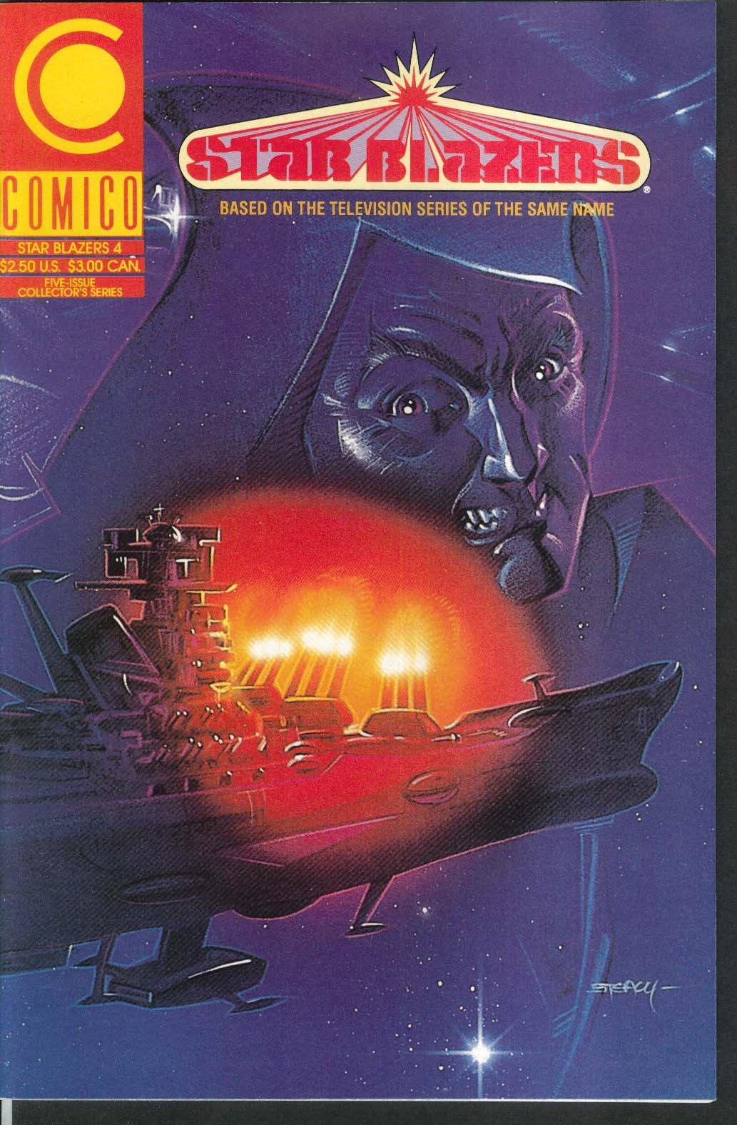 STAR BLAZERS #4 Comico comic book 8 1989