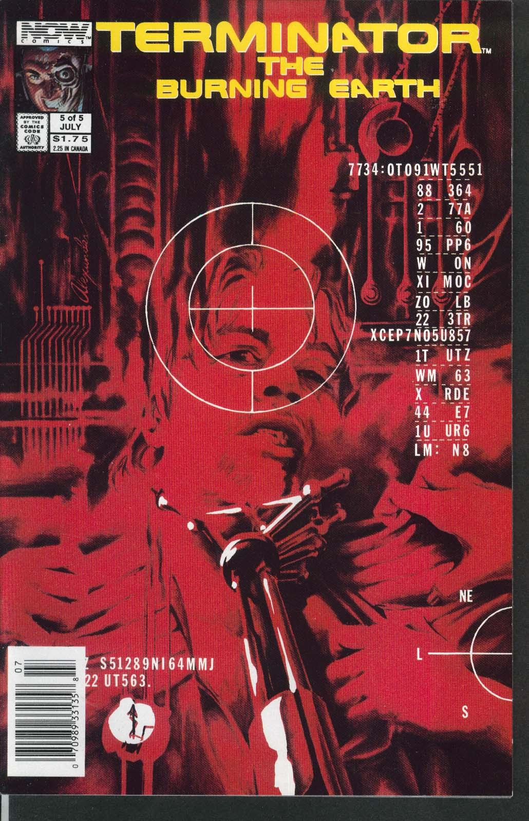 TERMINATOR the BURNING EARTH #5 NOW comic book 7 1990