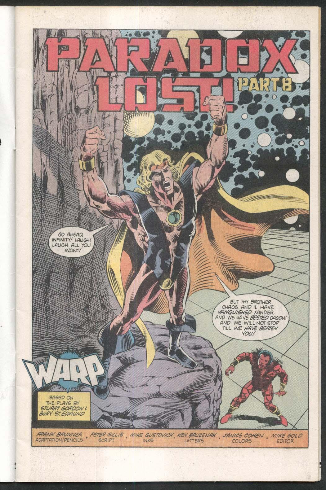 WARP #8 First comic book 11 1983