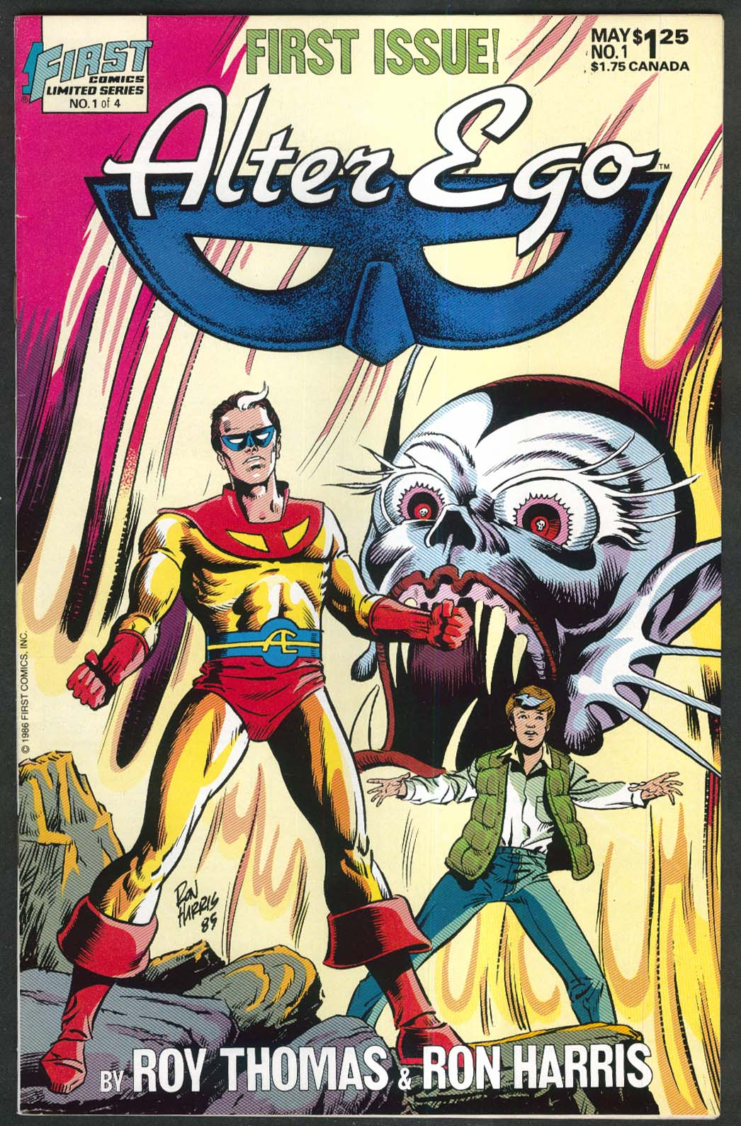 ALTER EGO #1 First comic book 5 1986 Roy Thomas Ron Harris