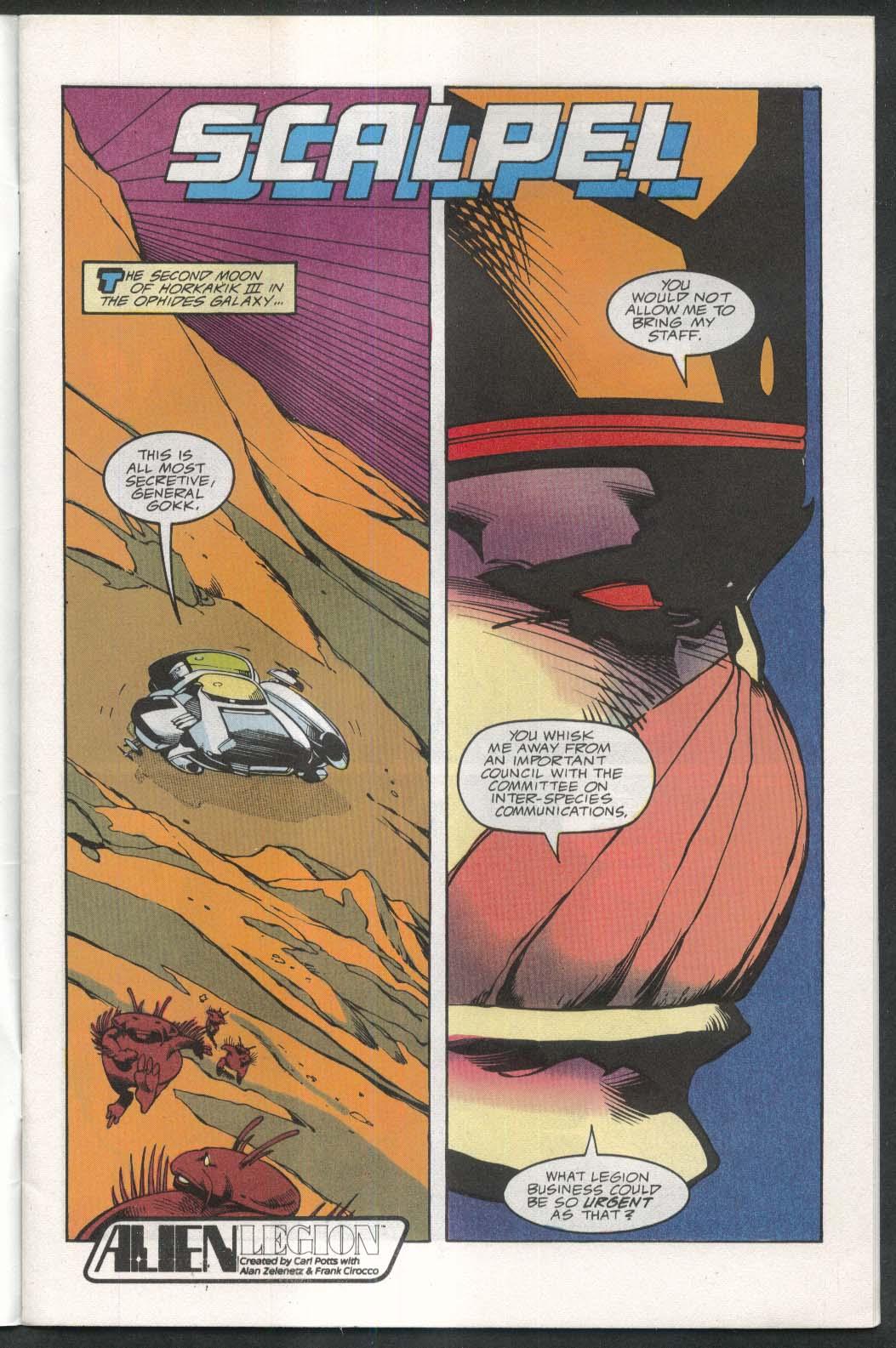 ALIEN LEGION #9 Epic comic book 2 1989