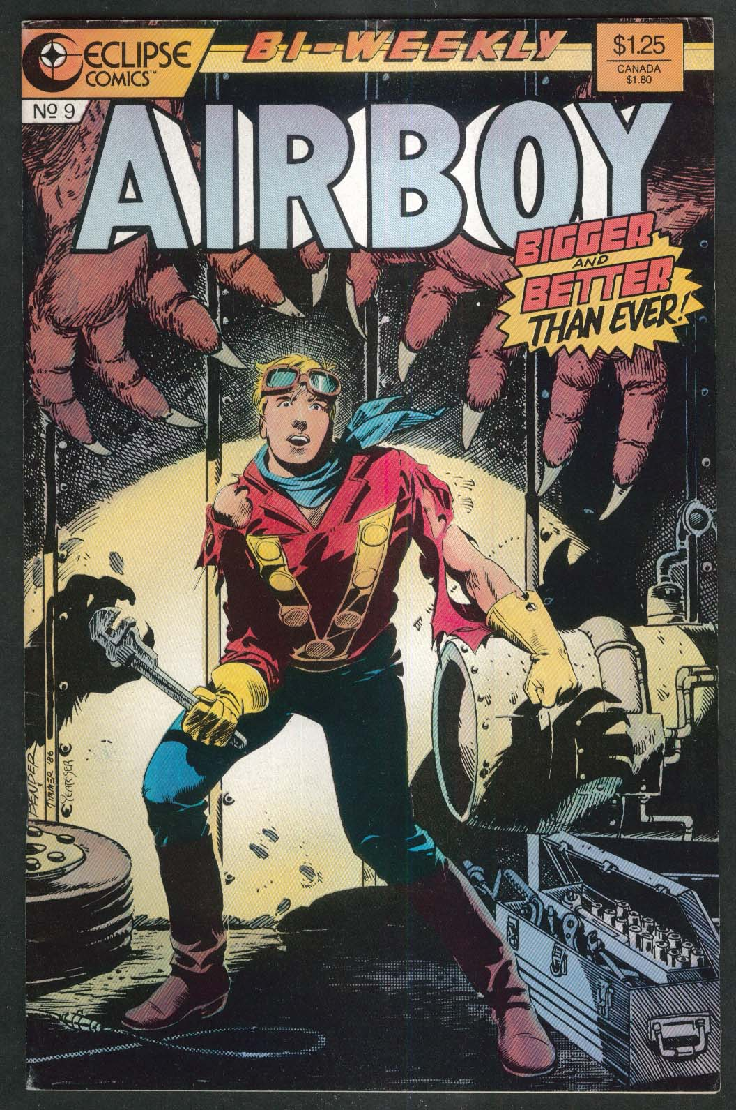 AIRBOY #9 Eclipse comic book 11/4 1986