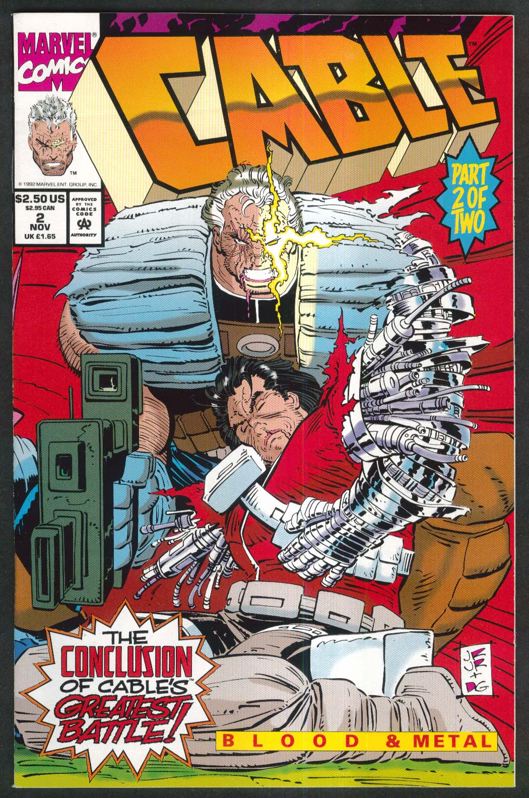 CABLE #2 Marvel comic book 11 1992