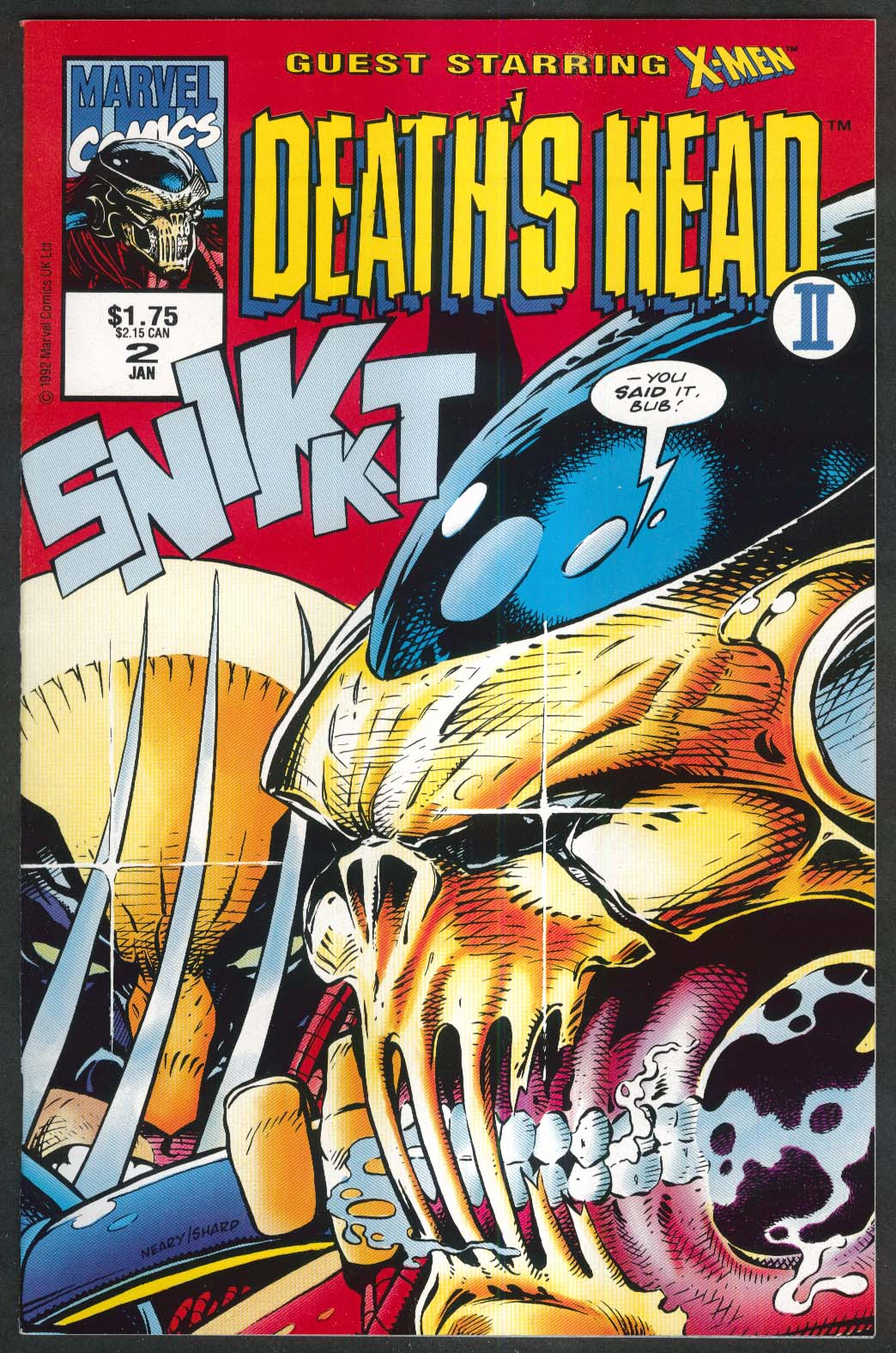 DEATH'S HEAD II #2 Marvel comic book 1 1993 X-Men