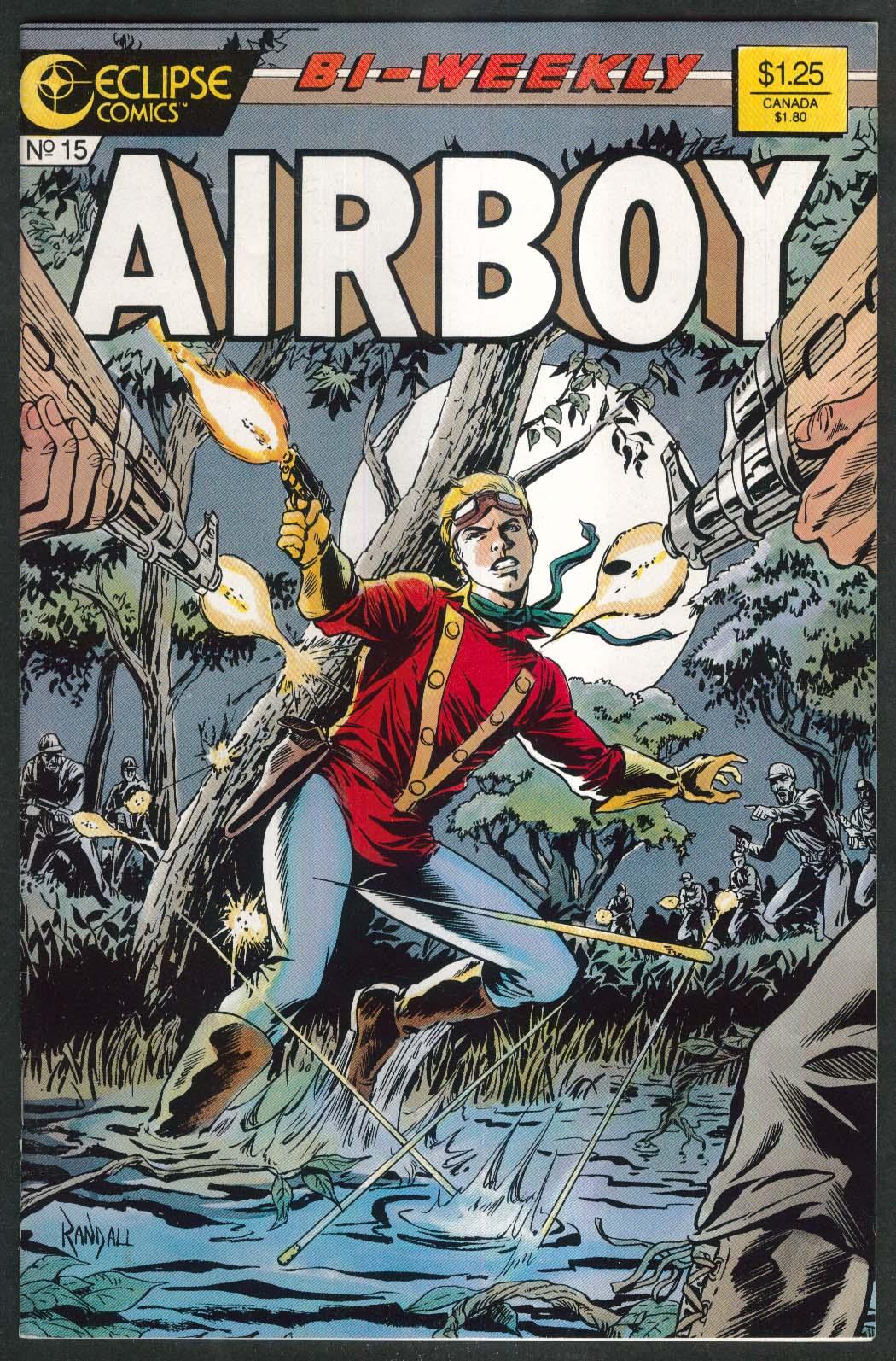 AIRBOY #15 Eclipse comic book 2/10 1987