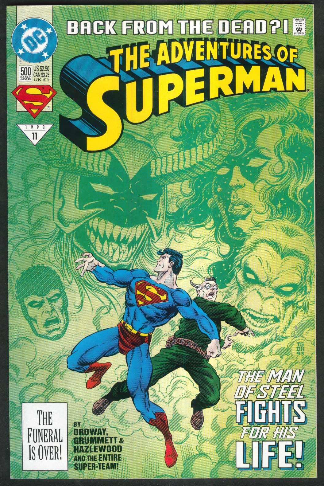 ADVENTURES of SUPERMAN #500 DC comic book 6 1993