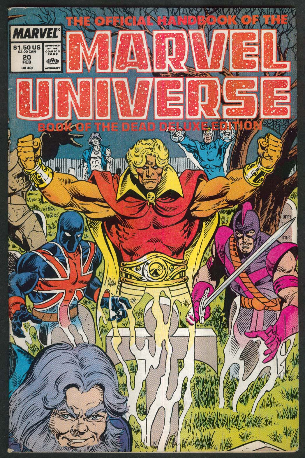 The Official Handbook of the MARVEL UNIVERSE Vol 2 #20 comic book 2 1988