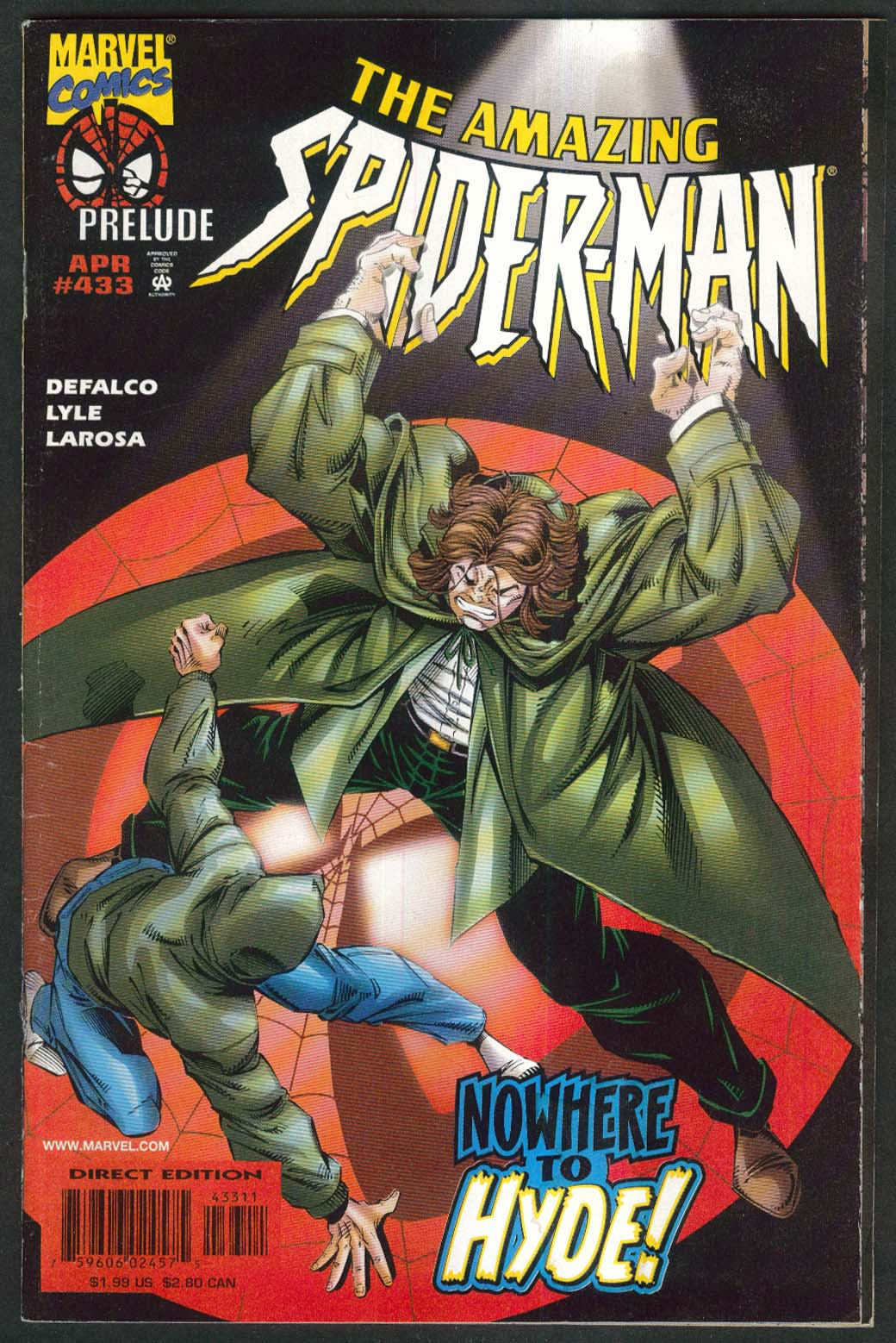 AMAZING SPIDER-MAN #433 Marvel comic book 4 1998