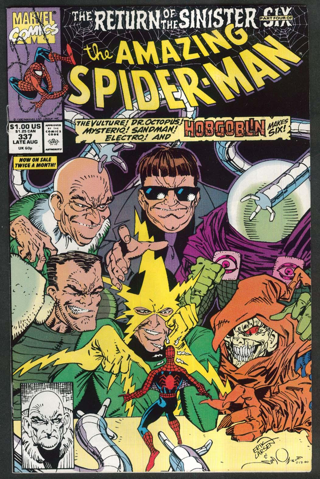 AMAZING SPIDER-MAN #337 Marvel comic book 8 1990