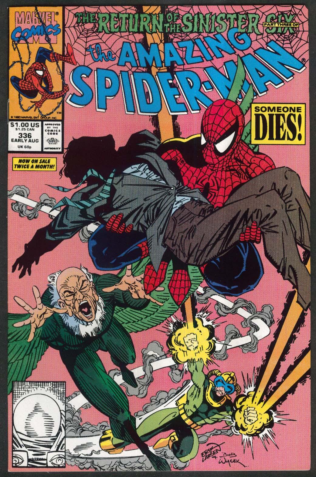 AMAZING SPIDER-MAN #336 Marvel comic book 8 1990