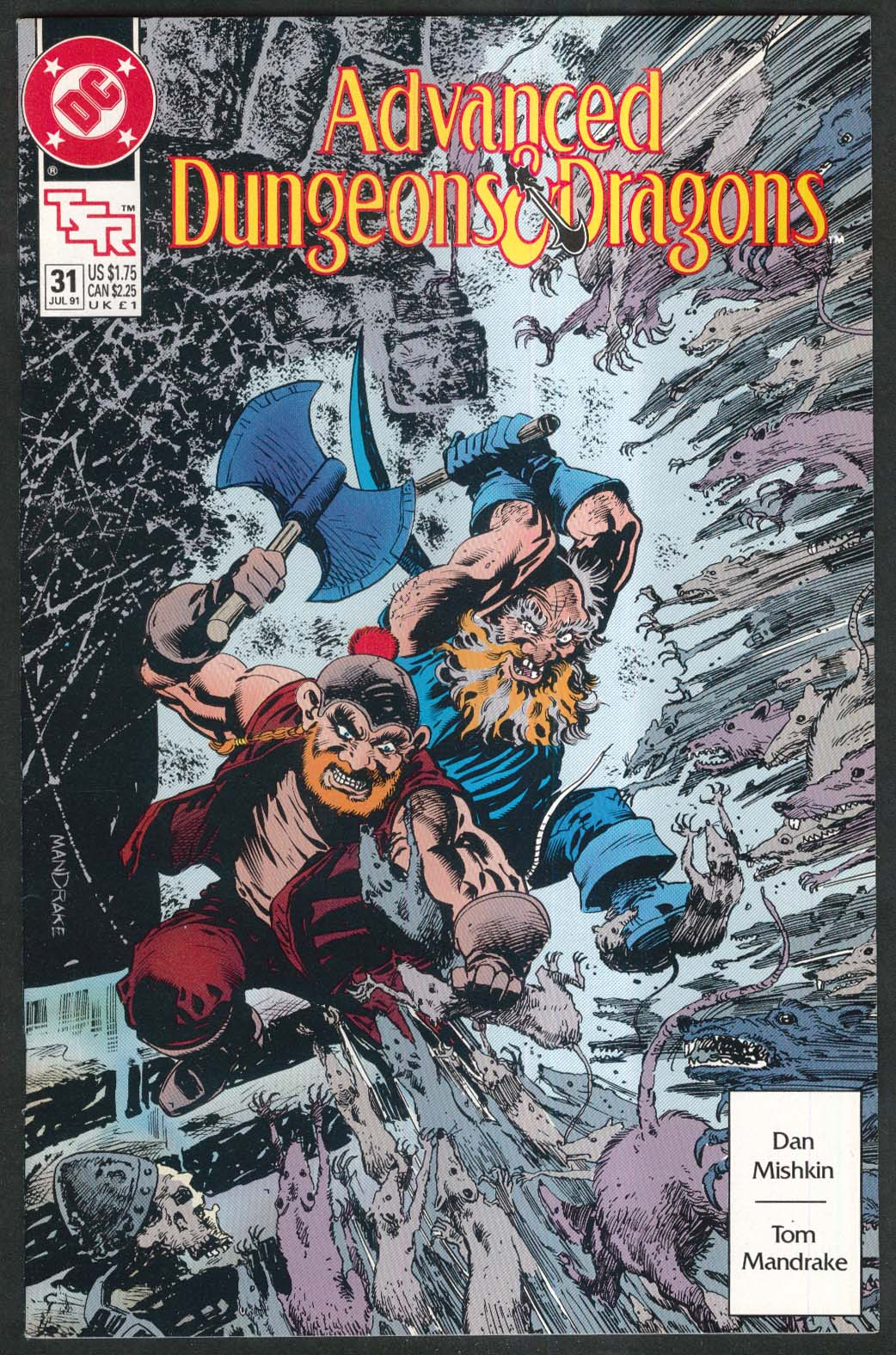 ADVANCED DUNGEONS & DRAGONS #31 DC comic book 7 1991