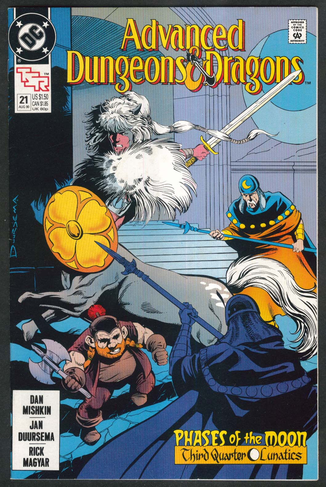 ADVANCED DUNGEONS & DRAGONS #21 DC comic book 8 1990 TSR