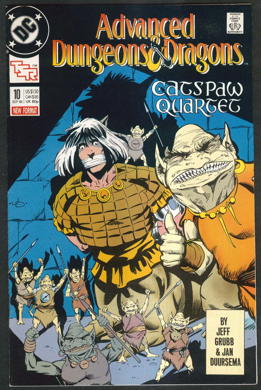 ADVANCED DUNGEONS & DRAGONS #10 DC comic book 9 1989 TSR