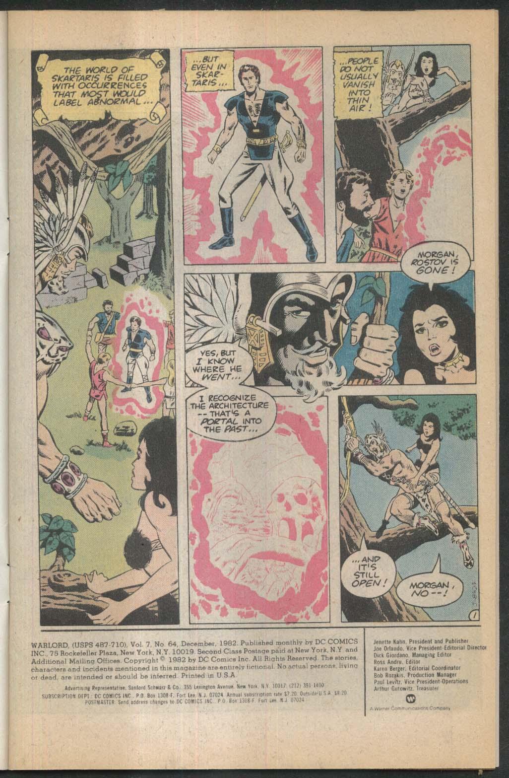 WARLORD #64 DC comic book 12 1982