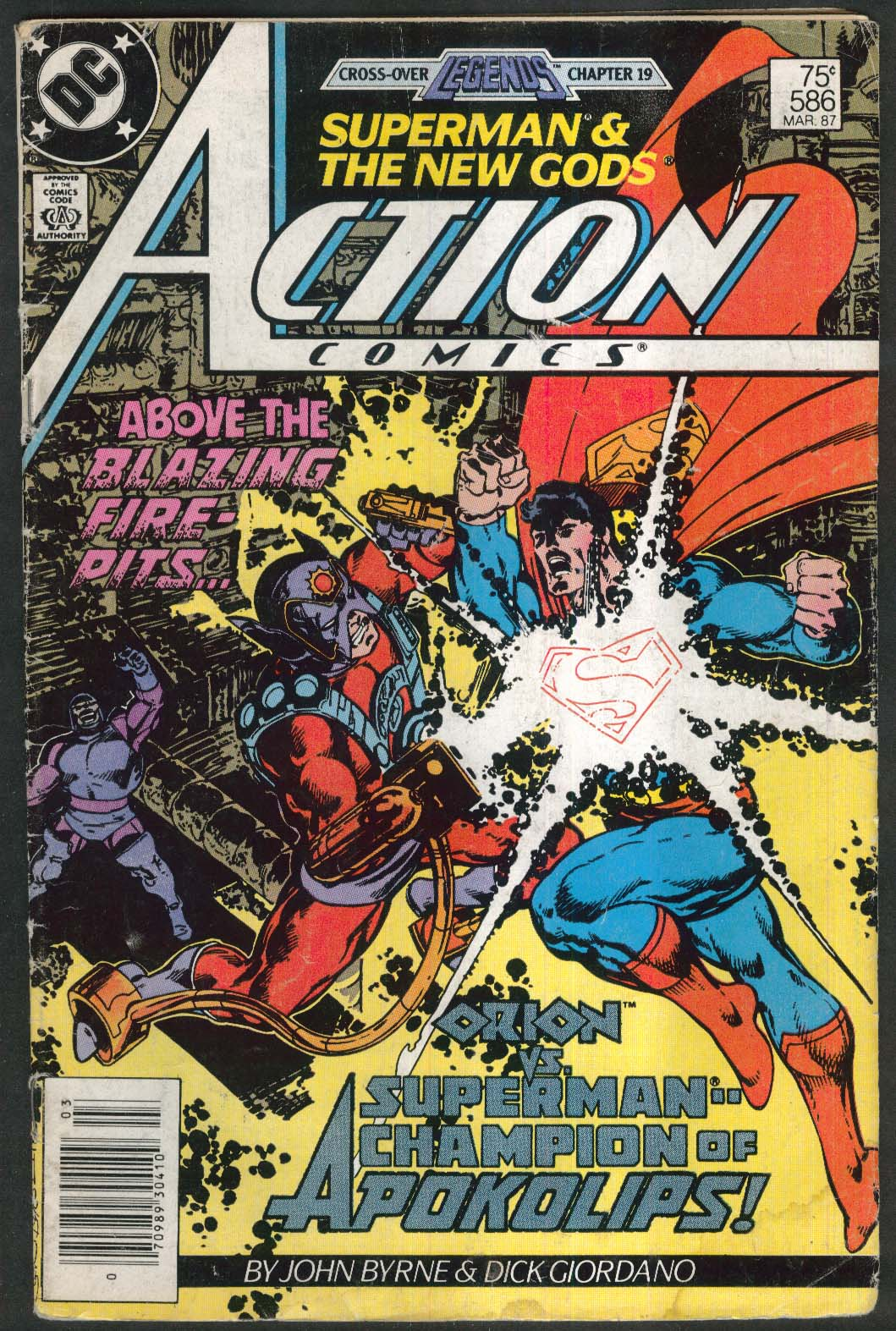ACTION COMICS #586 DC comic book 3 1987 Superman