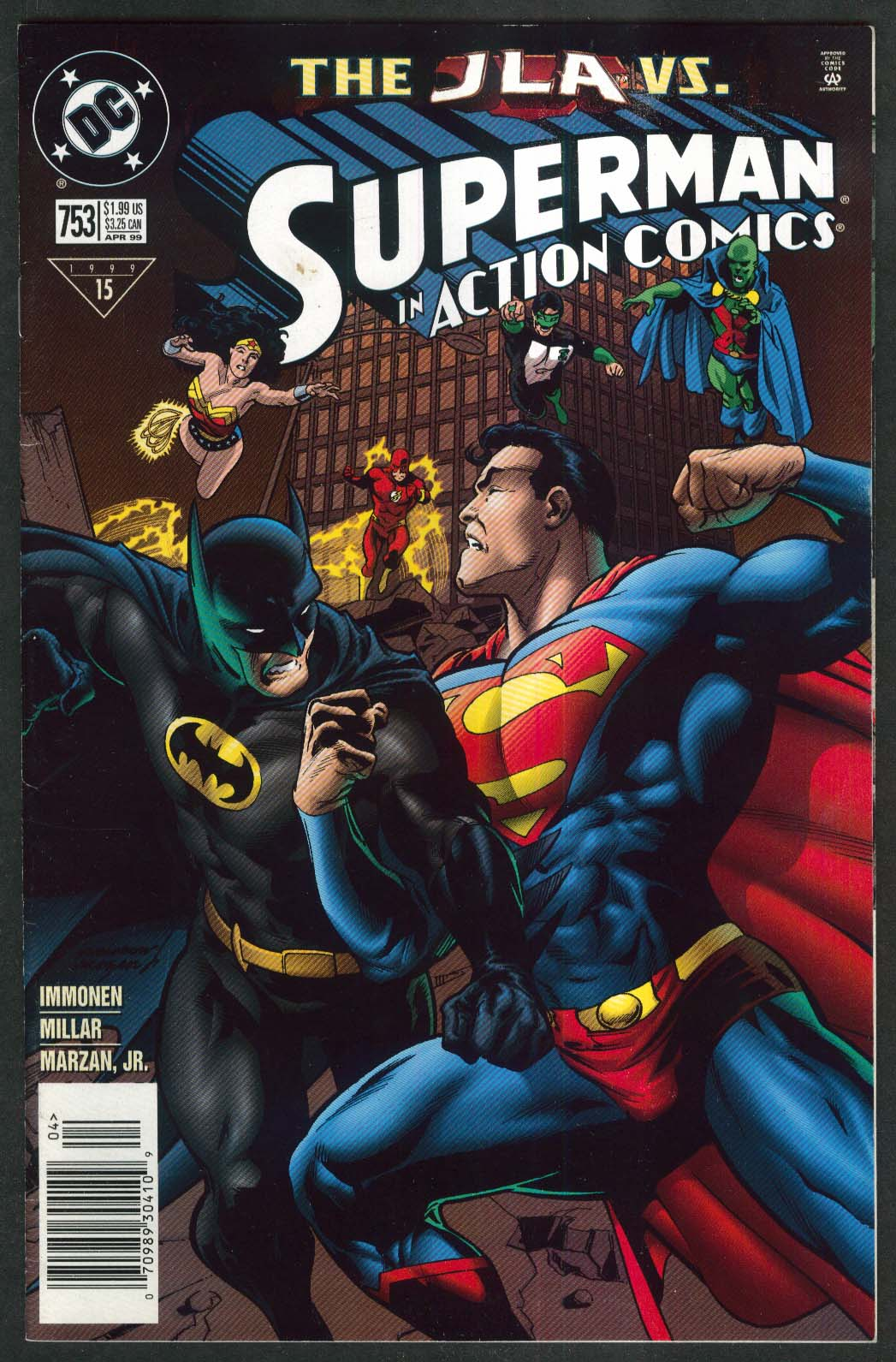 ACTION COMICS #753 DC comic book 4 1999 JLA vs Superman