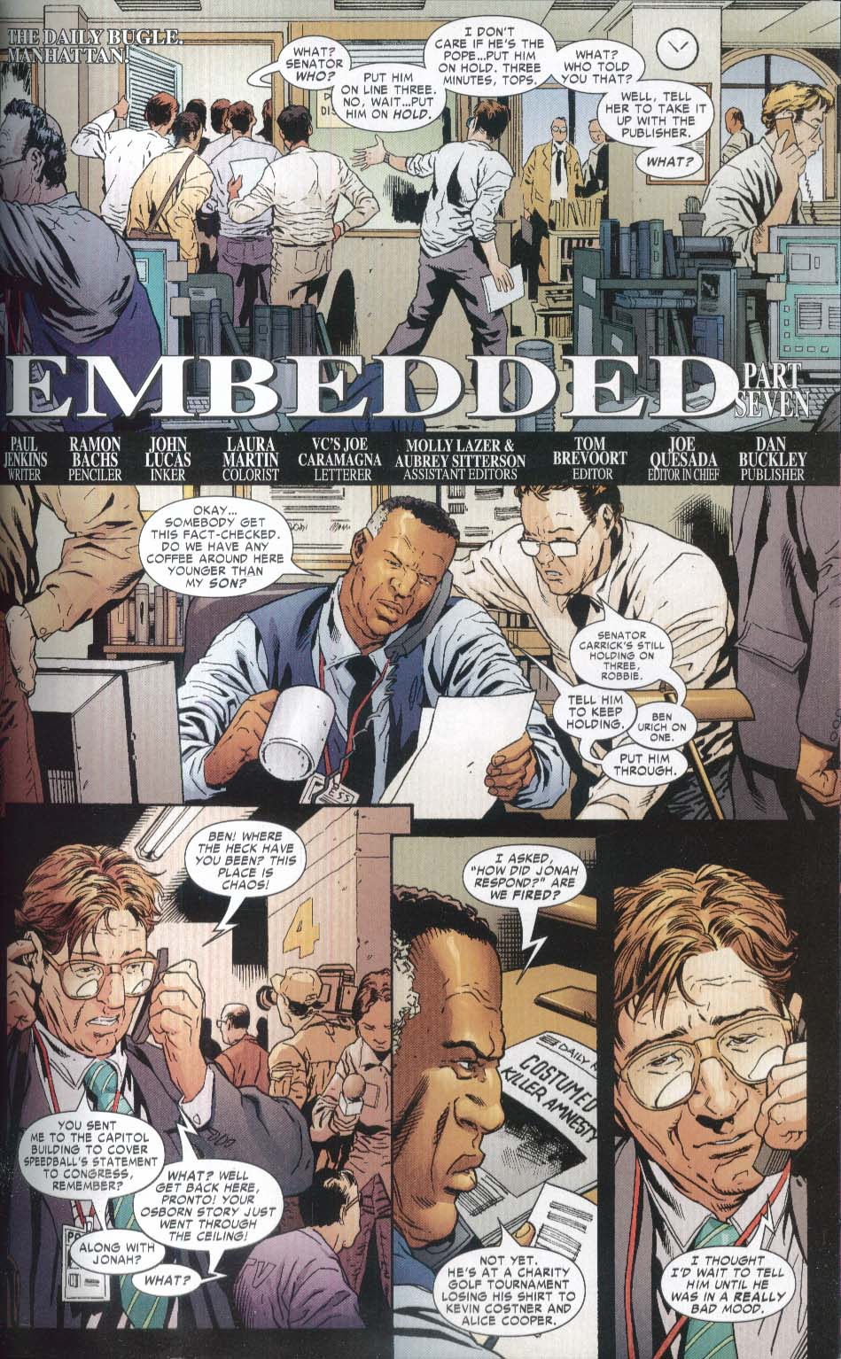 CIVIL WAR Front Line #2 Marvel Graphic Novel 1st Printing 2007