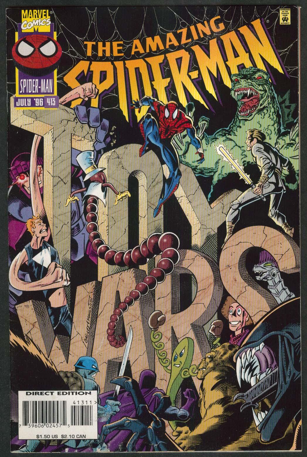 AMAZING SPIDER-MAN #413 Marvel comic book 7 1996