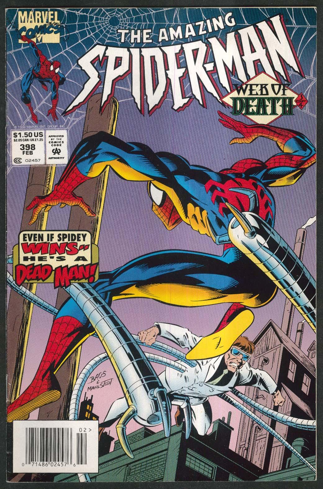 AMAZING SPIDER-MAN #398 Marvel comic book 2 1995