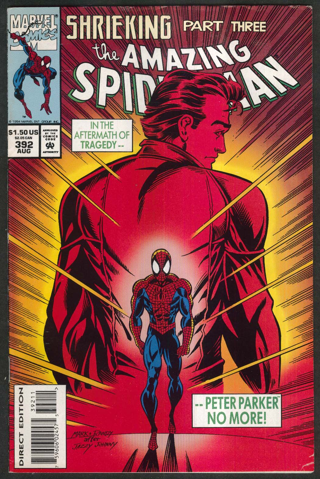 AMAZING SPIDER-MAN #392 Marvel comic book 8 1994