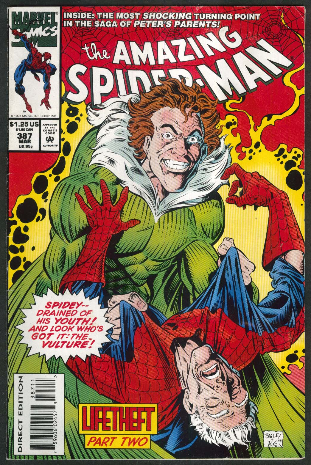 AMAZING SPIDER-MAN #387 Marvel comic book 3 1994
