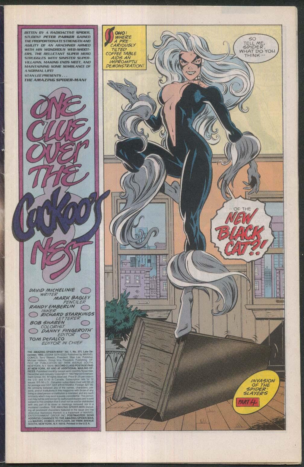 AMAZING SPIDER-MAN #371 Marvel comic book 12 1992