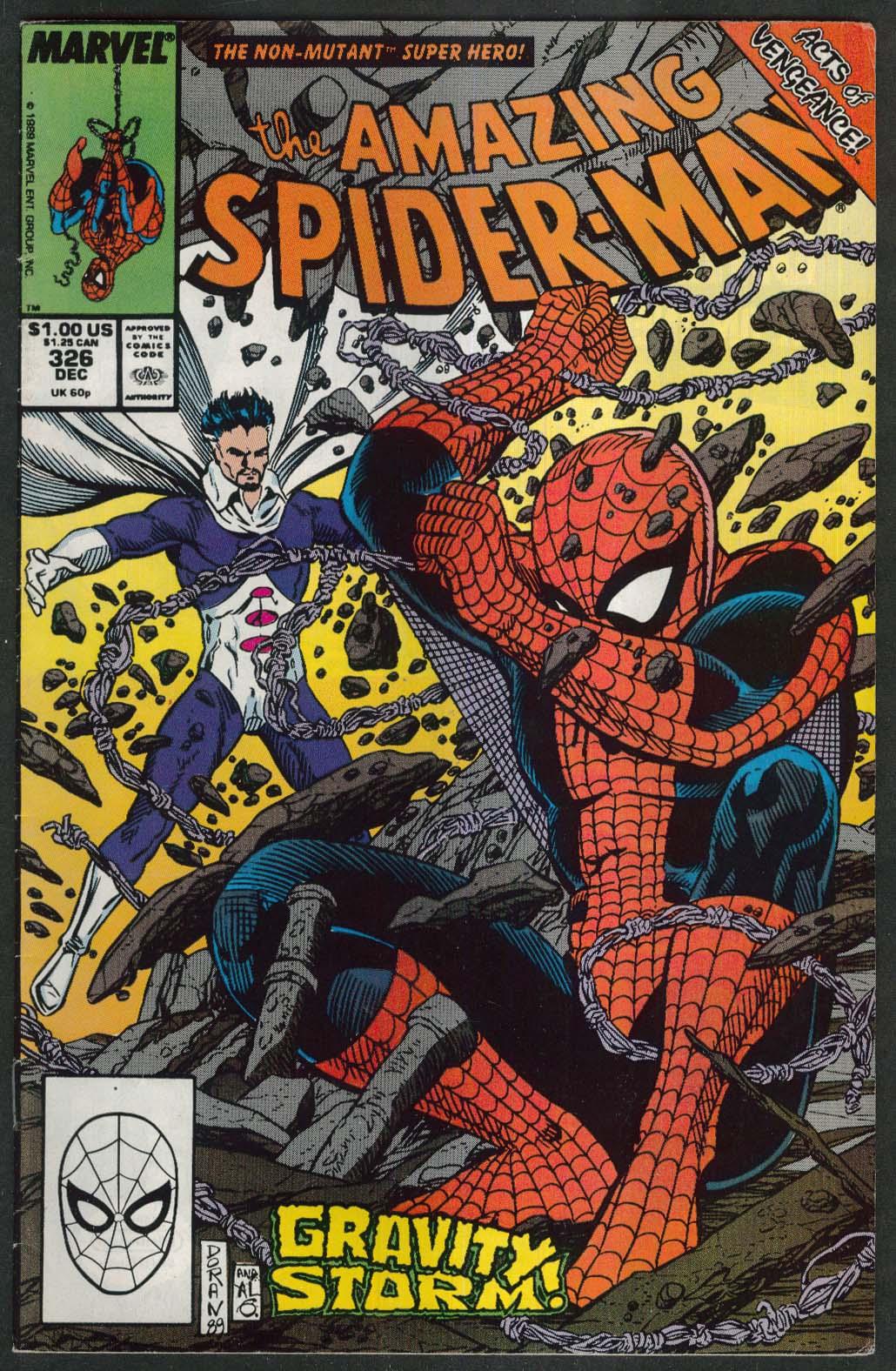 AMAZING SPIDER-MAN #326 Marvel comic book 12 1989