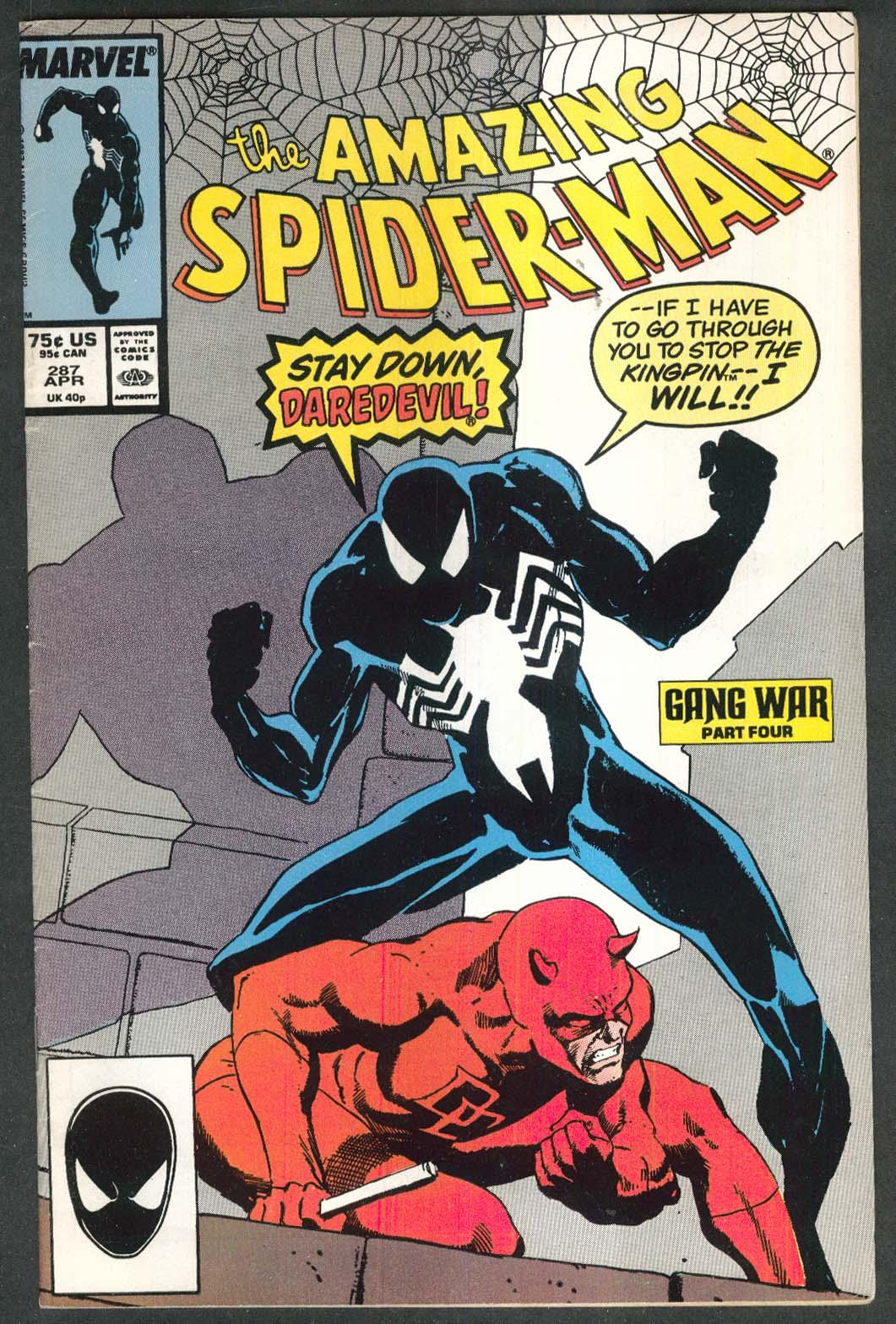AMAZING SPIDER-MAN #287 Marvel comic book 4 1987 Daredevil