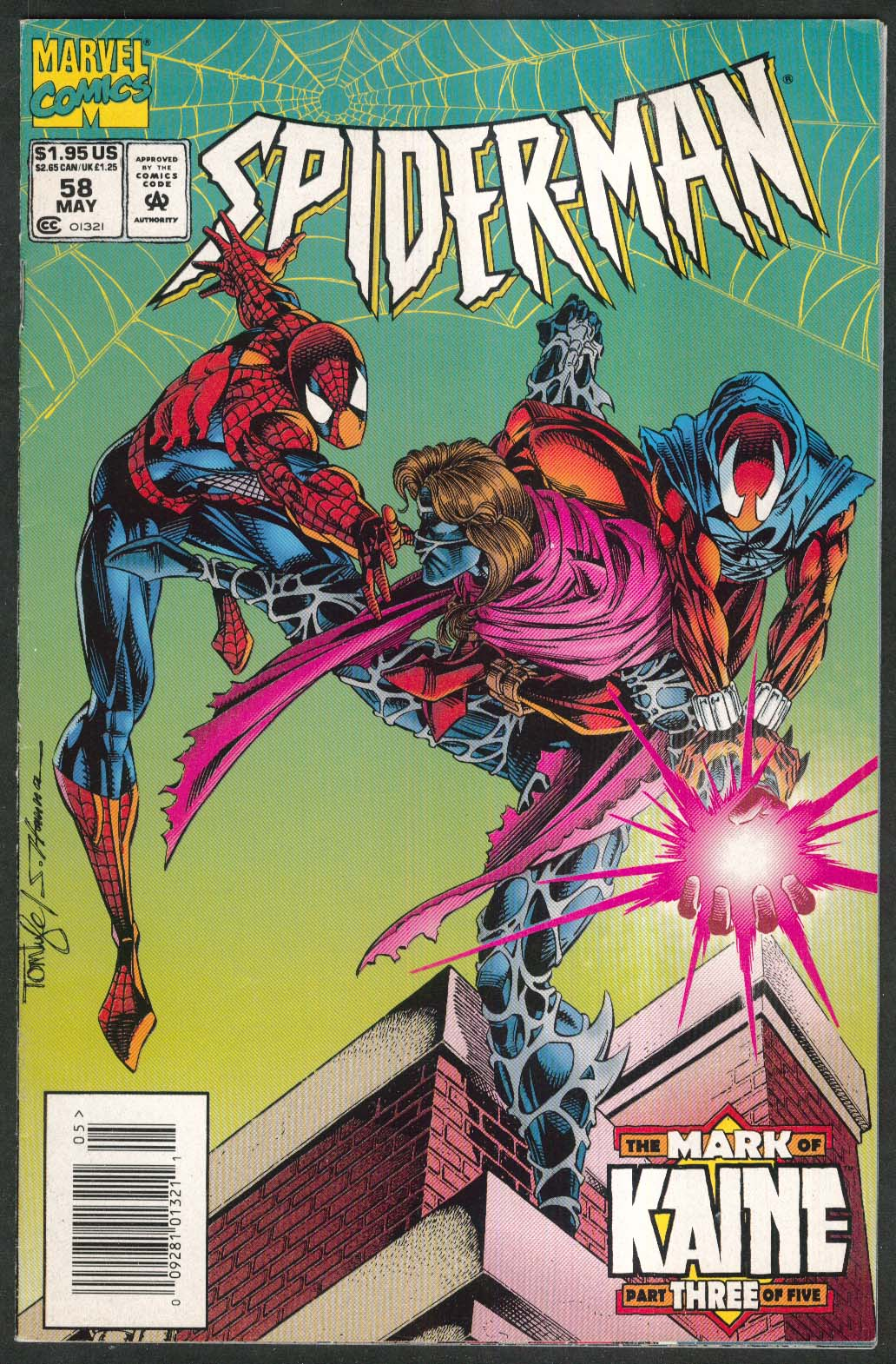 SPIDER-MAN #58 Marvel comic book 5 1995