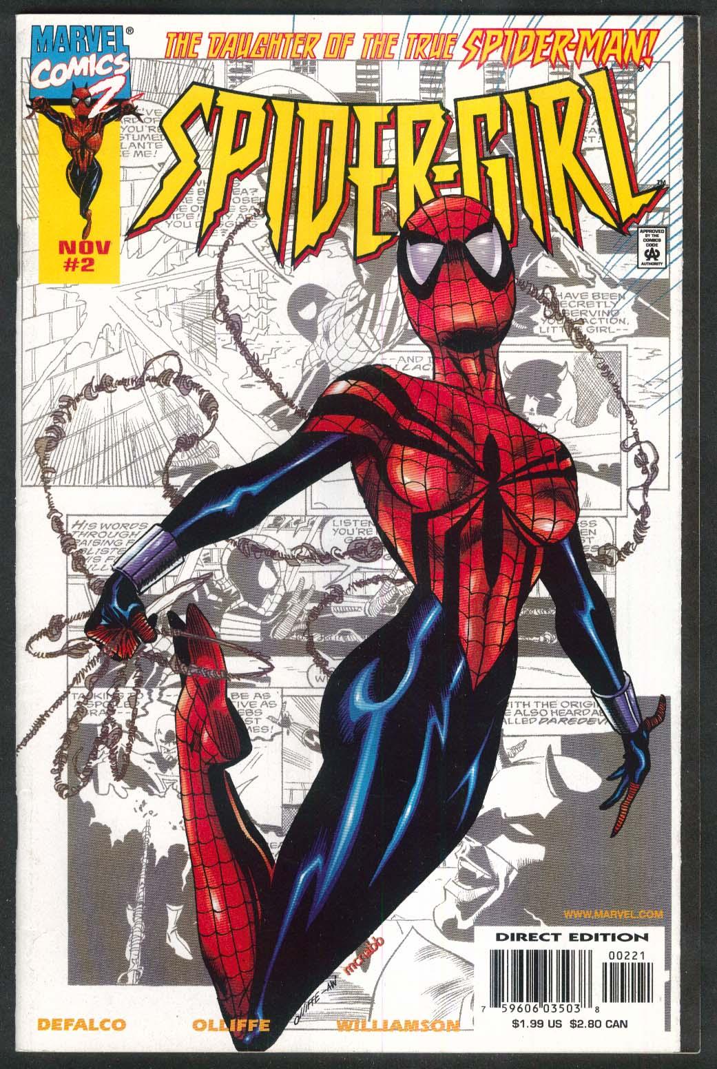 SPIDER-GIRL #2 Marvel comic book 11 1998