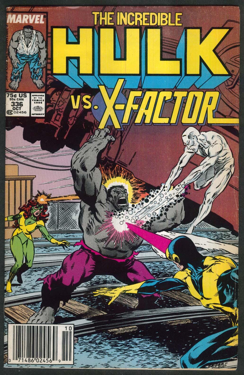 INCREDIBLE HULK #336 Marvel comic book 10 1987