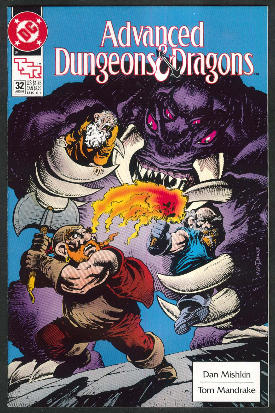 ADVANCED DUNGEONS & DRAGONS #32 DC TSR comic book 8 1991