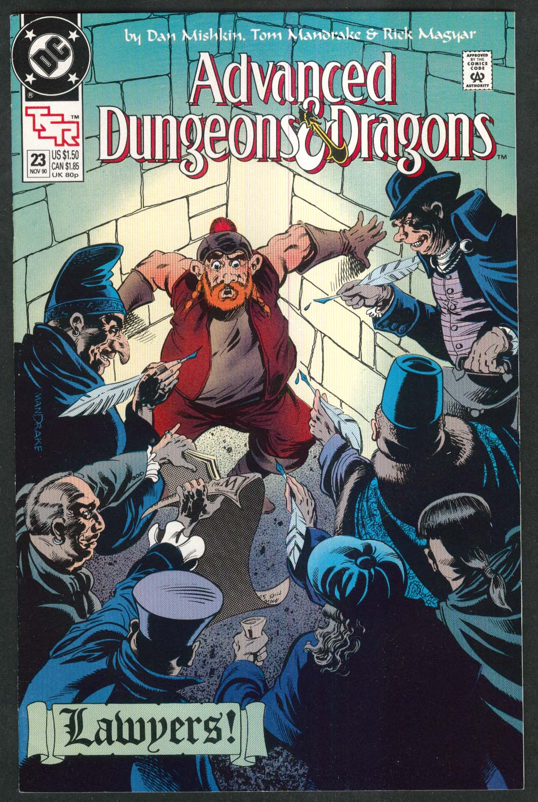 ADVANCED DUNGEONS & DRAGONS #23 DC TSR comic book 11 1990