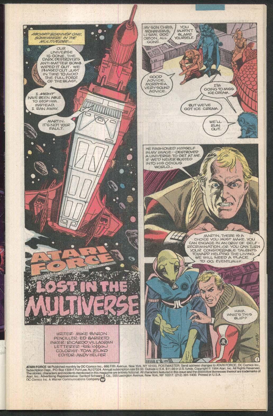 ATARI FORCE #14 DC comic book 2 1985