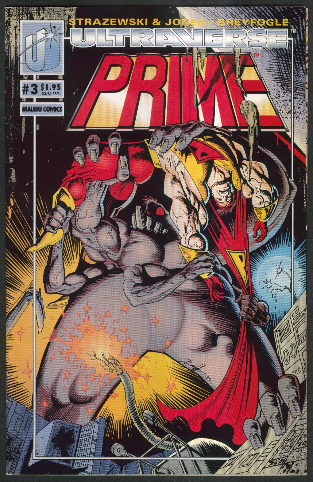 PRIME #3 Malibu comic book 8 1993 Ultraverse