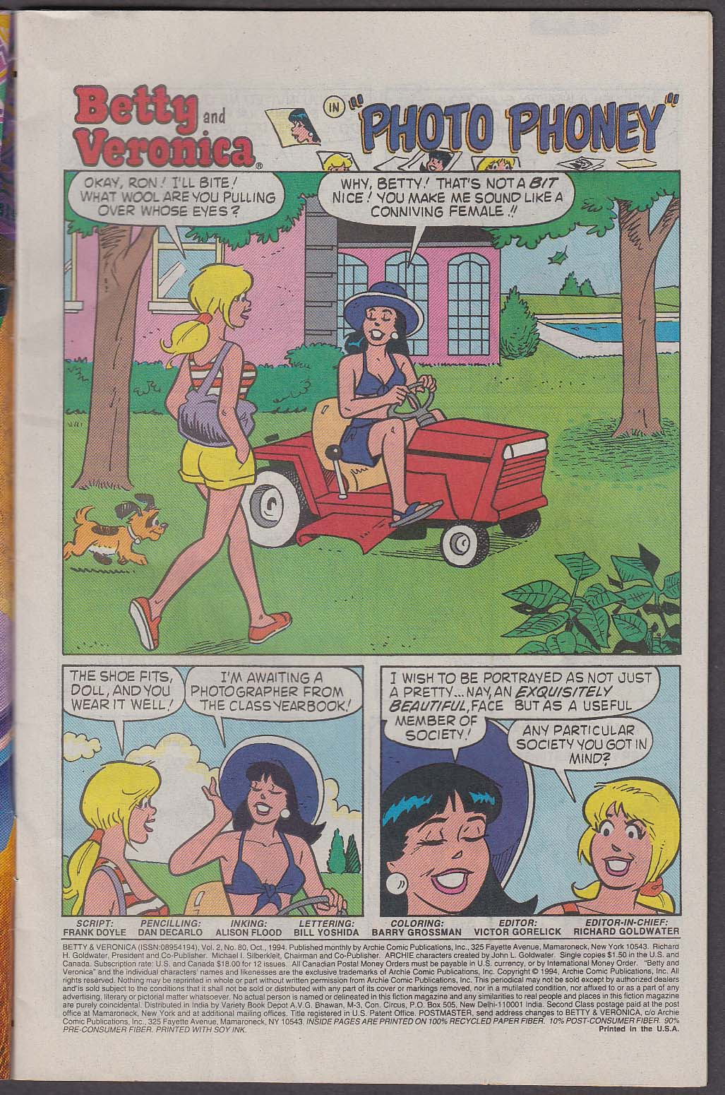 BETTY & VERONICA #80 Archie comic book 10 1994