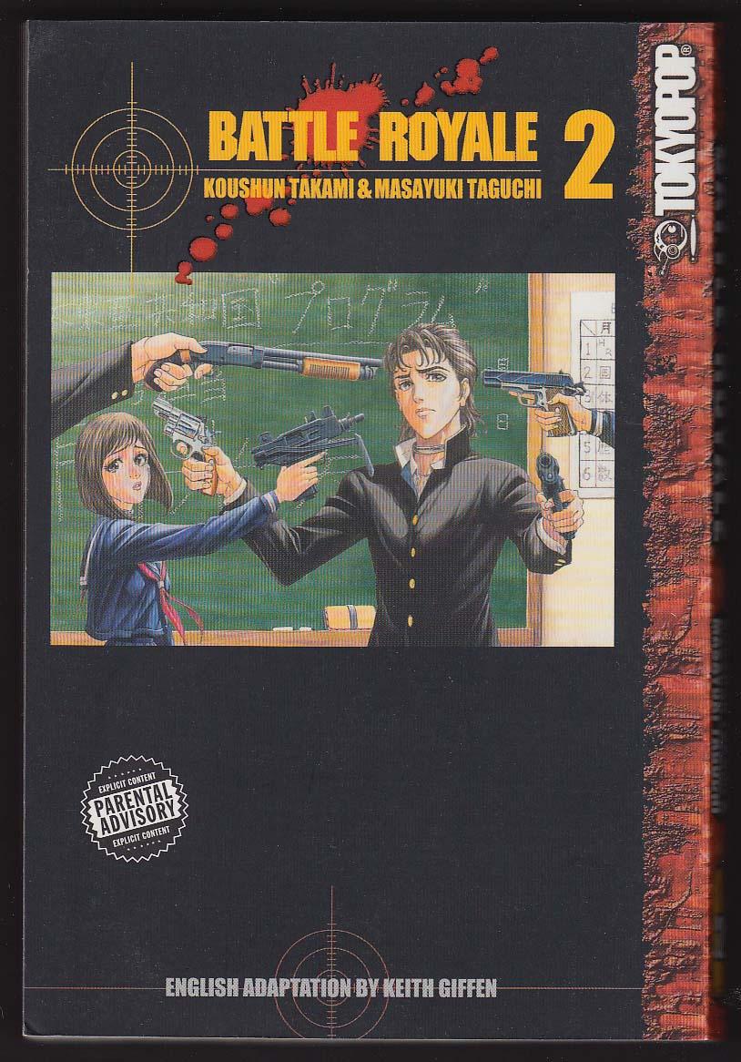 Battle Royale #2 manga comic book 2nd Tokyopop Printing 2003