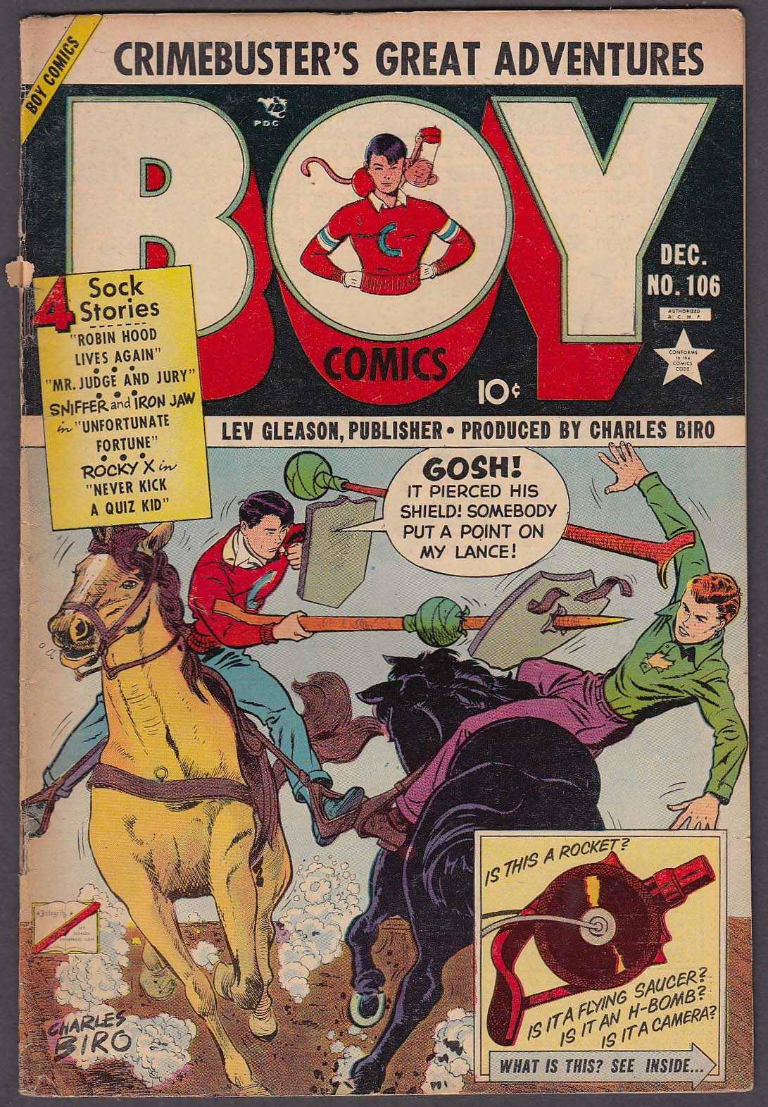 BOY Comics #106 comic book 12/7 1953